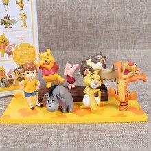 Jouets Disney pour enfants, figurines Winnie le tigre lourson, en PVC, 7 pièces, à collectionner, modèles, cadeau danniversaire de noël, pour 14DX