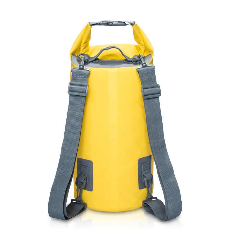 5L/10L/15L/20L pvc防水バッグ収納ドライバッグカヌーカヤックラフティングキャンプ屋外スポーツ水泳バッグ旅行キット袋バックパック