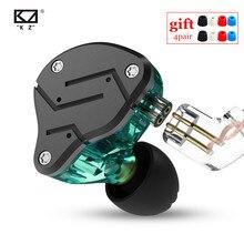 ใหม่KZ ZSN 1DD + 1BA Heavy Bassเหล็กCommutativeสายหูประเภทหูฟังHIFI Moving Iron Quad Core KZ ZS10 ZST AS10 BA10 ES4
