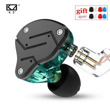 Новый KZ ZSN 1DD + 1BA тяжелый бас Железный коммутирующий кабель в наушниках HIFI подвижный Железный четырехъядерный KZ ZS10 ZST AS10 BA10 ES4