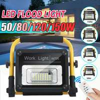 50/80/120/150W Waterproof Flood Light Outdoor floodlight Ultra Bright Led flood light Usb Chargeable Camping Lamp with RC