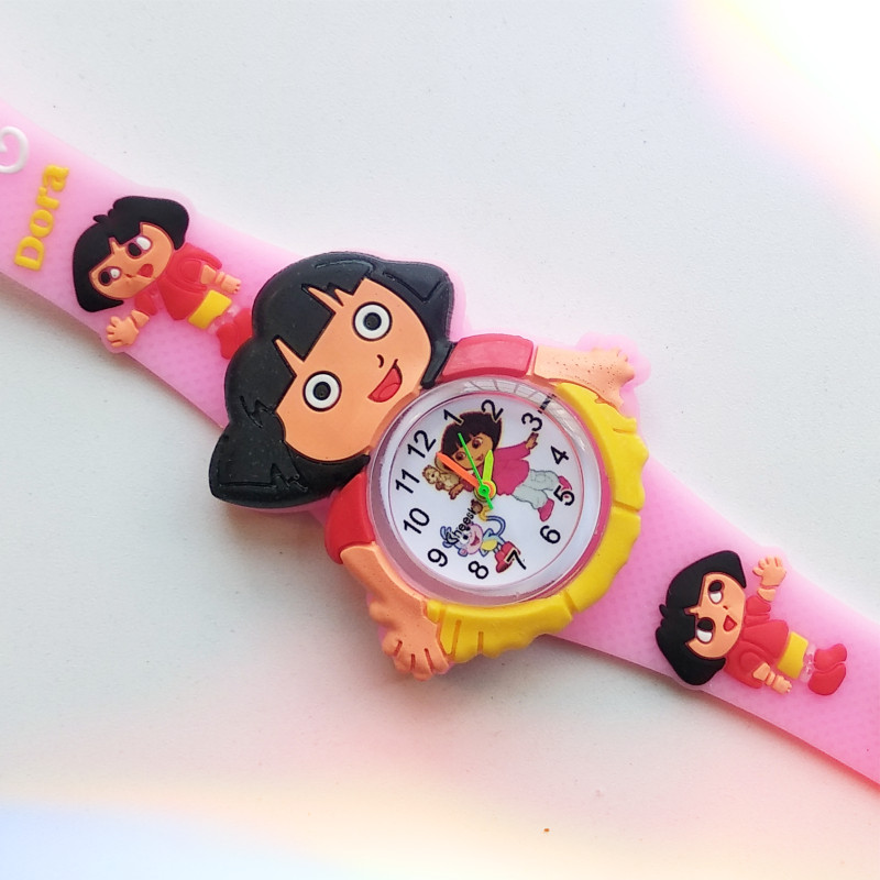 Fashion Children Watch Cute Dora Cartoon Child Quartz Wristwatch Sports Girls Watches Kids Baby Clock Gift Relogio Masculino