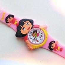 Fashion Children Watch Cute Dora Cartoon Child Quartz Wristwatch Sports Girls