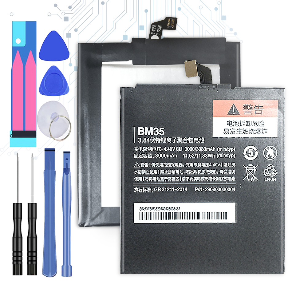 Replacement Battery BM35 for XIAOMI Xiao Mi 4C Mi4C Battery <font><b>BM</b></font> <font><b>35</b></font> <font><b>BM</b></font>-<font><b>35</b></font> 3080mAh with Track Code image