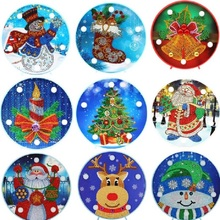 DIY LED Special Shaped Diamond Painting Light Christmas Santa Claus Snowman Needlework Embroidery Home Lamp Bedroom Night Light