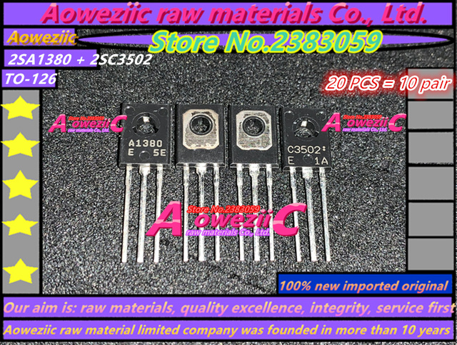 Aoweziic  100% new imported original 2SC3502  2SA1380  2SC3502  A1380 C3502  TO 126 E transistor