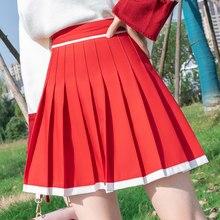 Moda feminina saia kawaii faldas senhoras saias sexy das mulheres saias plissadas saias coréia roupas de verão tutu femme