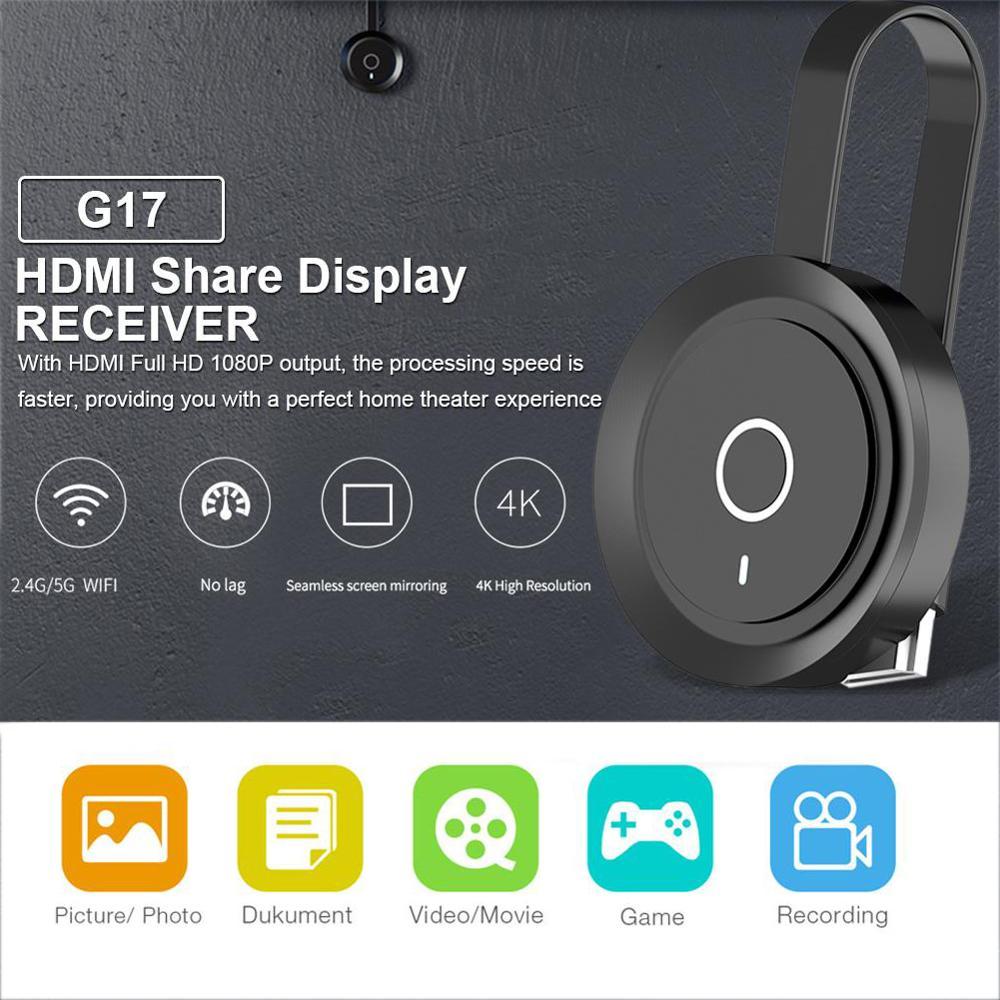 Mirascreen G17 TV Dongle 2 4G 5G Dual Band Dual HD WiFi Miracast Airplay DLNA TV