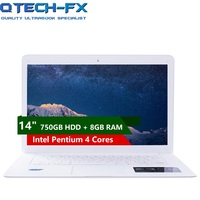 14 Laptop 8GB RAM 1TB /750GB HDD Windows 10 Fast CPU Intel 4 Core Business School Arabic AZERTY German Spanish Russian Keyboard