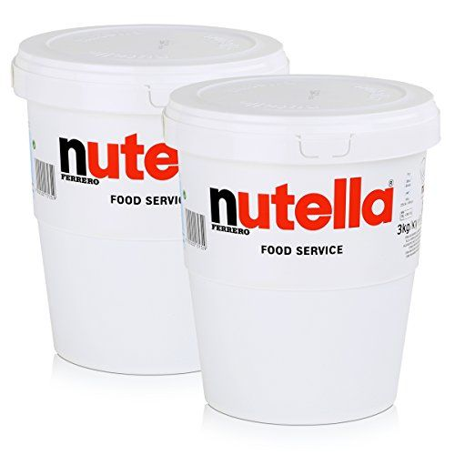2 X 3 Kg Jumbo Taza Nutella Ferrerro Untar En El Pan XXL Pasta De Praliné De Ferrero