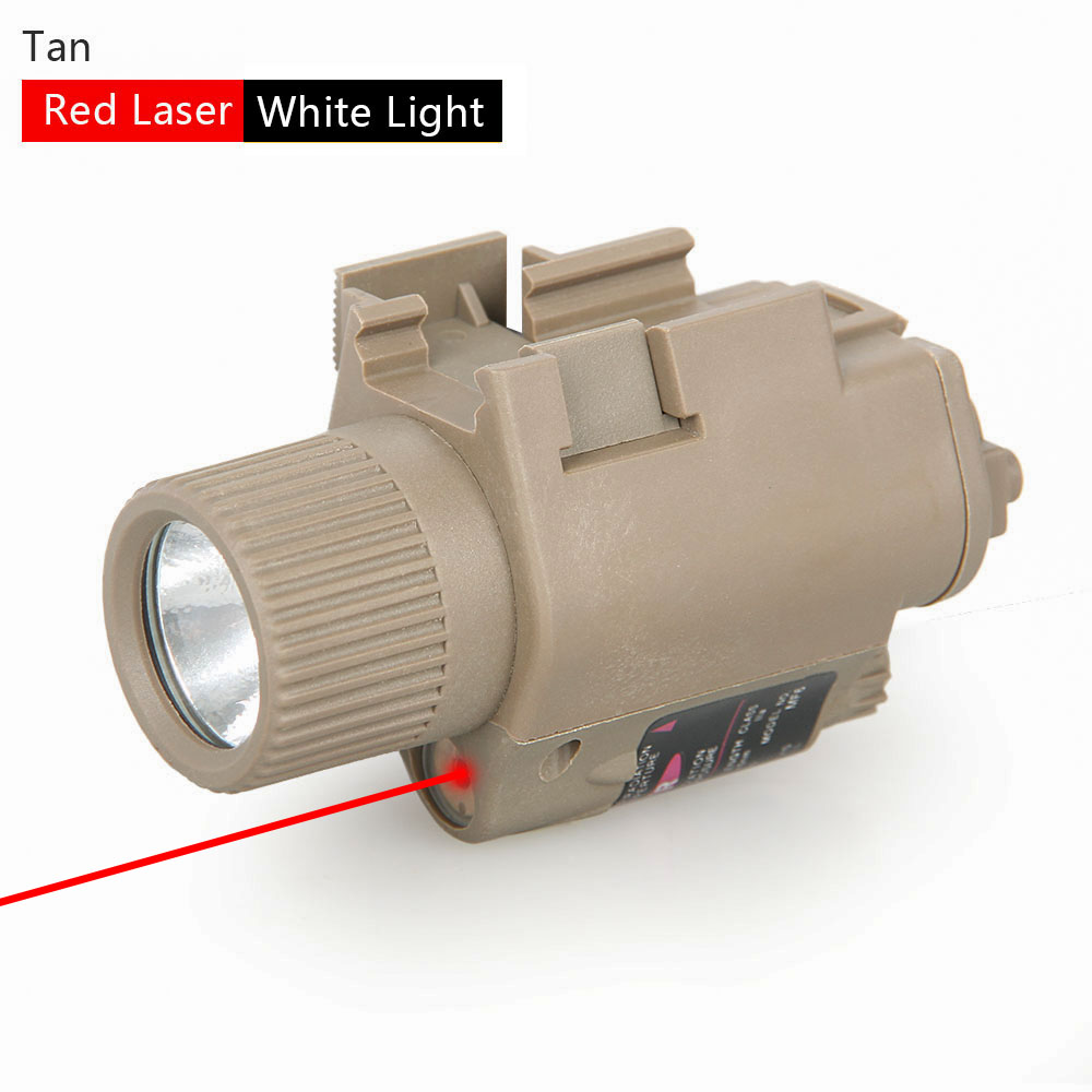 PPT Tactical M6 Illuminator Torch Light Red Green Laser Yellow White Light Hunting Flashlight For Airsoft Rifle Air Gun
