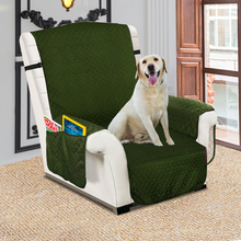 Recliner Cover Waterproof Quilted Sofa Cover For Pet Dog and Kids Sofa Couch Slipcover Furniture Protector With Elastic Band