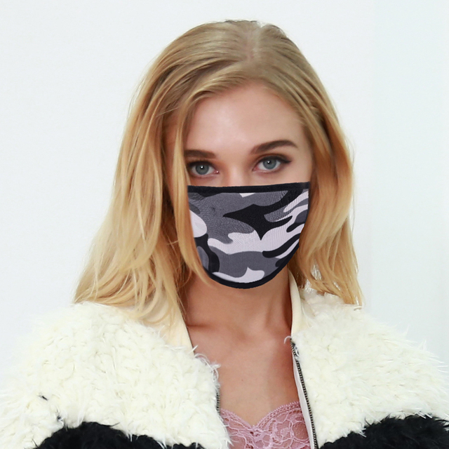5pcs Leopard Acrylic & Spandex Black Mouth Mask Anti Dust Mask Activated Windproof Mouth-Muffle Bacteria Proof Flu Face Masks 5