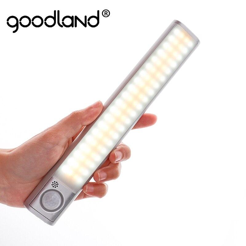 Goodland LED sous armoire lumière 160 LED lumières PIR capteur de mouvement lumière placard armoire nuit lampe pour cuisine chambre placard