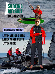 Dry-Suit Sailing-Kayak Windsurfing Waterproof Designed with Overlays-Jacket for SUP Kiteboarding