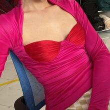 Nibber-Tops informales apilados de retales para mujer, Tops cortos elásticos de moda, ropa de calle, Bodycon de actividad, Harajuku, Otoño, 2020