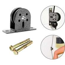 Steel wheel fixed bearing pulley block silent swivel weight
