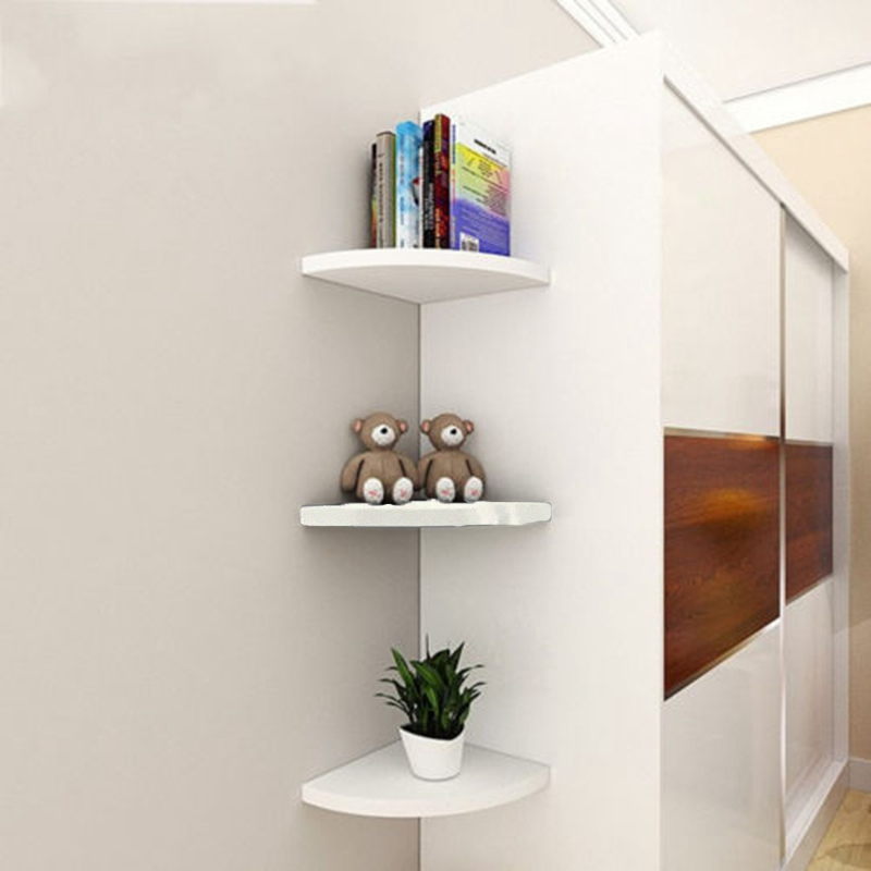 3Pcs Corner Bathroom Kitchen Storage Shelf Kitchen Wall Hang Drain Bathroom Organizer Rectangle Semicircle Bathroom Organize
