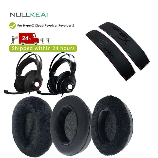 NULLKEAI استبدال رشاقته الجلود المخملية سماعة الأذن ل HyperX سحابة مسدس ، مسدس S سماعات عالية الجودة سماعات الأذن عقال