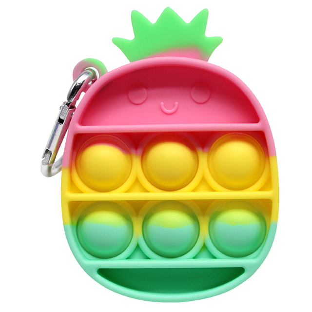 Rainbow Fidget Toys Push Bubble Sensory Squishy Stress Reliever Autism Needs Anti-stress Toys for Adult Children антистресс 3