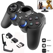 2.4G denetleyici Gamepad Android kablosuz oyun kolu Joypad ile OTG dönüştürücü PS3/akıllı telefon için Tablet PC için akıllı TV kutusu