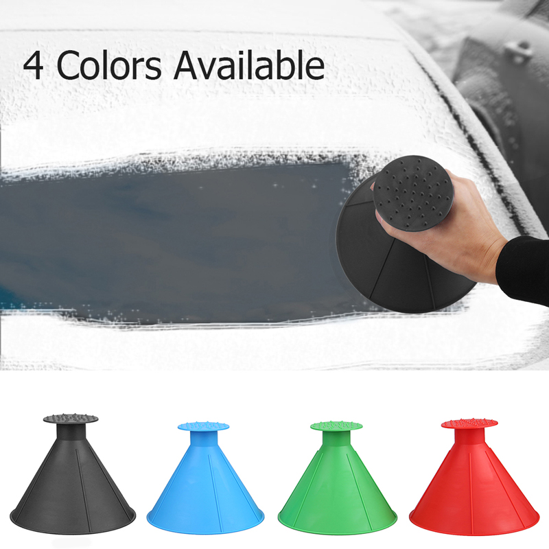 VODOOL Auto Car Magic Window Windshield Ice Scraper Outdoor Winter Funnel Snow Remover Shovel Cone Deicer Deicing Tool Scraping