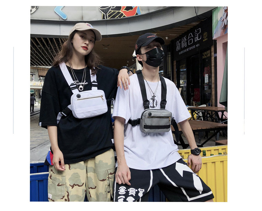 H44a65fe4f70d4d95aabff3fcb04776707 - Vest-Style Large Space Chest Bag Retro Square Chest Bag Streetwear Shoulder Functional Backpack Tactics Funny Pack G108