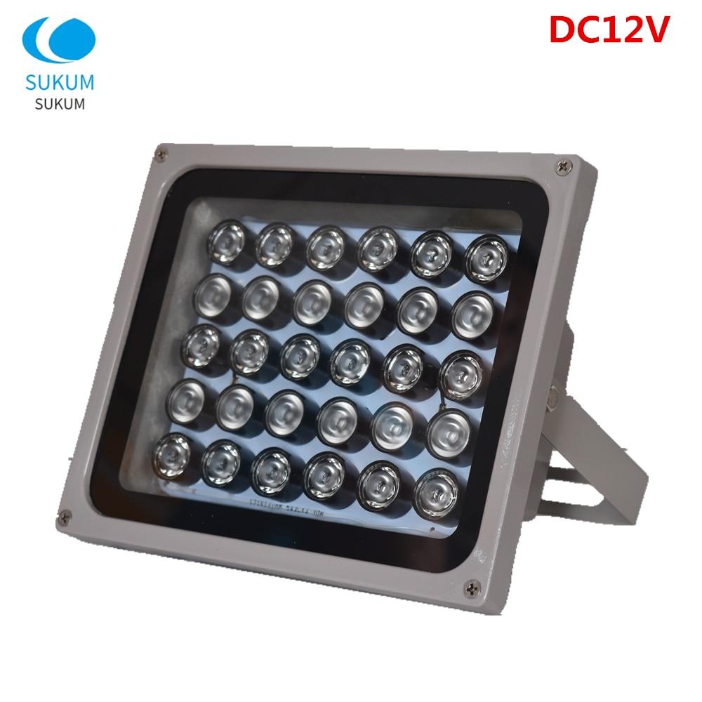 DC 12V 30Pcs инфракрасный CCTV заполняющий свет 850nm массив СИД Водонепроницаемый ночного видения ИК осветитель инфракрасная лампа для камеры видеонаблюдения|Аксессуары для CCTV|   | АлиЭкспресс
