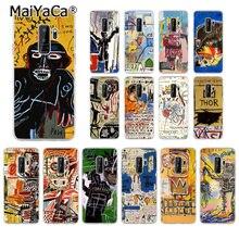 MaiYaCa Jean Michel Basquiat Art Graffiti TPU Soft Silicone Phone Case for Samsung  S5 S4 S3 S7 edge S9 Plus S8 plus S6