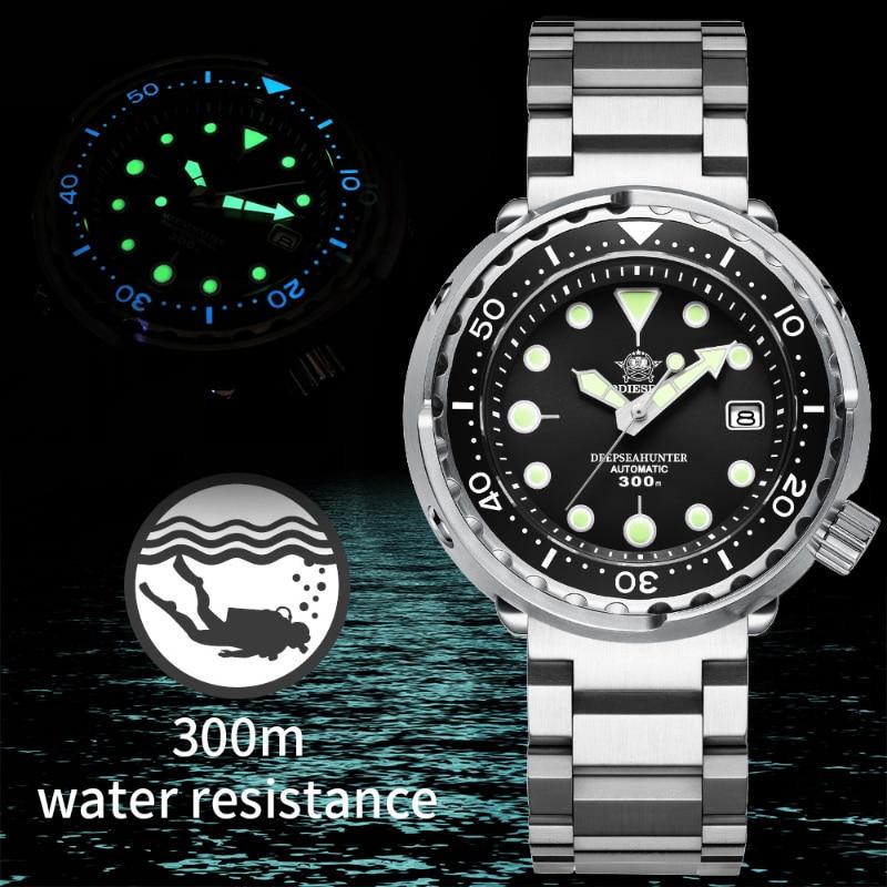 Addies Dive Men's Automatic Watch NH35A Sapphire Crystal Ceramic bezel BGW9 Luminous 30bar steel Tuna diver Men watch watches 6