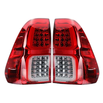 Left/Right Car Tail Light Led with Bulb for Toyota Hilux Revo 2015 2016 2017 2018 Pickup Rear Reverse Lamp Modified Tail Fog L