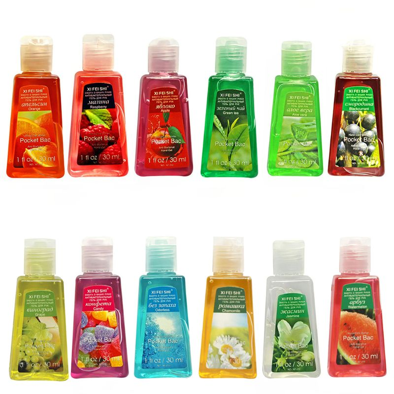 30ml Hand Sanitizer Gel Fruit Scented Disposable No Clean Portable Disinfectant T4MB
