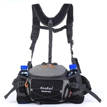 Sports Waist Bag Men Women Outdoor Hiking Riding Waterproof Wearproof Backpack 8L Camping Travel Shoulder Bag Water Bottle Pack