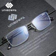 半remlessコンピュータメガネの男性の光学フレーム処方眼鏡フレーム近視眼鏡フレーム抗青色光 2020