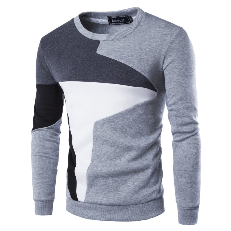 ZOGAA Men's Pullover Sweaters High Quality 2019 Hot Sale Color Matching Casual Long Sleeve Sweaters Slim Fit Designer Pullovers