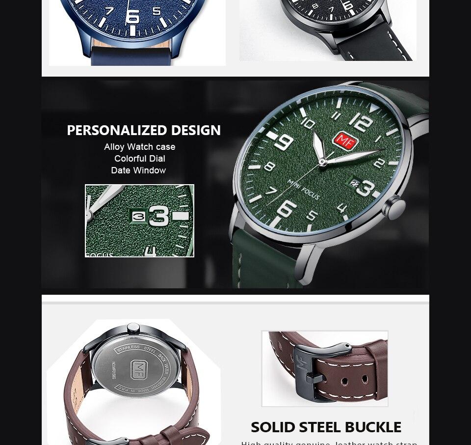 H44a6e13b1aaa460eb49b935ff23e6548E MINI FOCUS Luxury Brand Men's Wristwatch Quartz Wrist Watch Men Waterproof Brown Leather Strap Fashion Watches Relogio Masculino