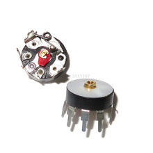 10PCS/LOT Radio Potentiometer RV12MM B503 B50K Power Amplifier Volume Potentiometer With Switch Corner Pin