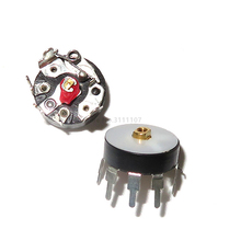 10PCS/LOT Radio Potentiometer RV12MM B503 B50K Power Amplifier Volume Potentiometer With Switch Corner Pin