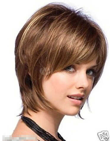 Shun peruca saç kraliçe cosplay moda kısa peruk yeni seksi kadın kısa kahverengi sarışın Mix doğal saç kısa peruk isıya dayanıklı