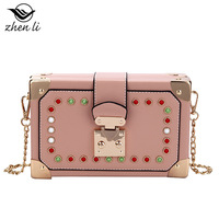 Bag girl 2019 new Japanese style girl small square bag single back women handbags clutches women purses