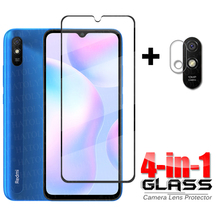 4 in 1 Glass on Redmi 9A Full Cover Tempered Glass For Xiaomi Redmi 9A 9 A 9AT HD Phone Screen Protector Redmi 9A Camera Glass