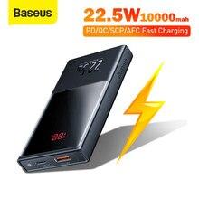 Baseus Mini Power Bank 20000mAh 22,5 W Schnell Lade Externe Batterie Ladegerät Digital Display PD QC Schnelle Ladung Power bank
