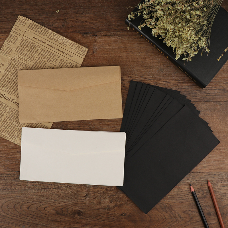 10Pcs Classical Blank Mini Paper Window Envelopes Wedding Invitation Envelope