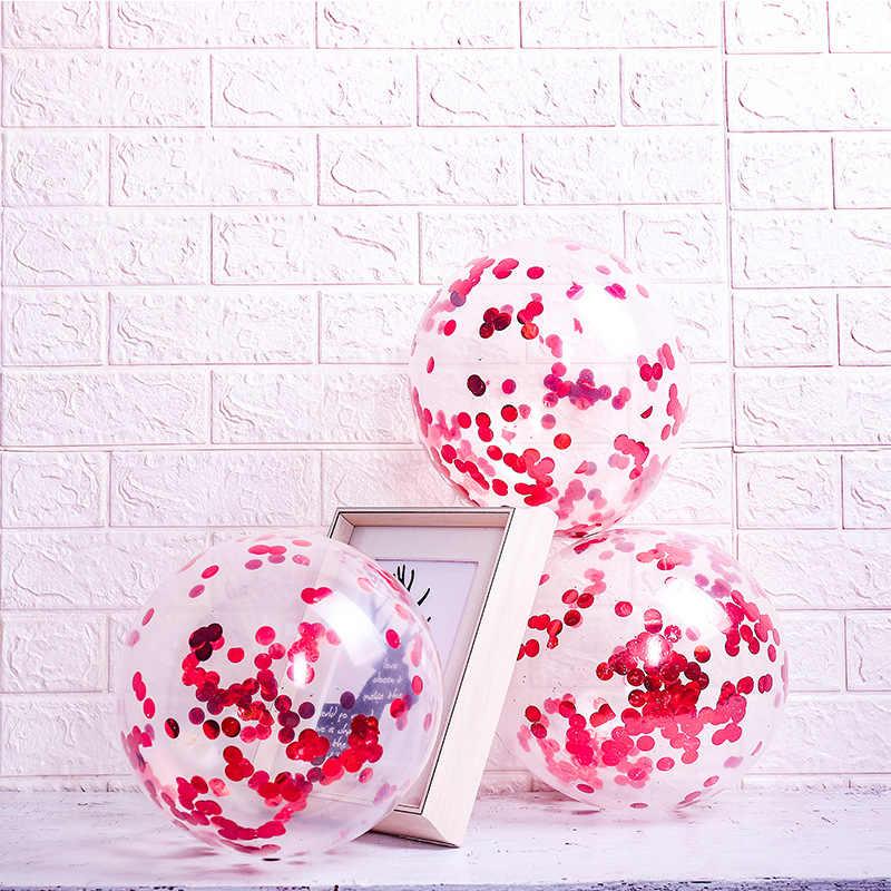 1Pcs 12 אינץ צבע יום הולדת בלון בלוני מסיבת כדור ילד ילד צעצוע BallonsTransparent בלונים שמח יום הולדת תינוק מקלחת