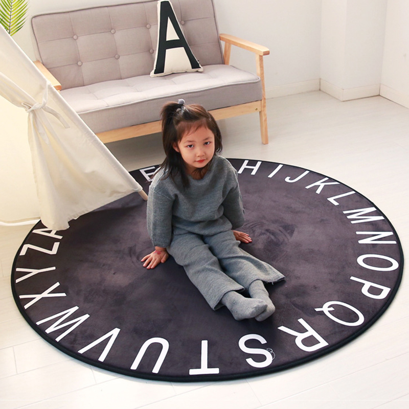 Baby Infant Play Mat Carpet Foam Round Shape Developing Mat Crawling Mat Washable Portable Toddler Room Decor BXX021