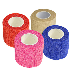 Hot New Self Adhesive Ankle Finger Muscles Care Elastic Medical Bandage Gauze Tape Sports Wrist Support MVI-ing