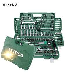 Набор инструментов для ремонта автомобиля с пластиковым ящиком для инструментов чехол для хранения торцевых трещоток отвертка набор ручны...