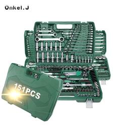 مجموعة أدوات إصلاح السيارات السيارات مع صندوق أدوات من البلاستيك حقيبة للتخزين المقبس اسئلة وجع مفك مجموعة أدوات اليد
