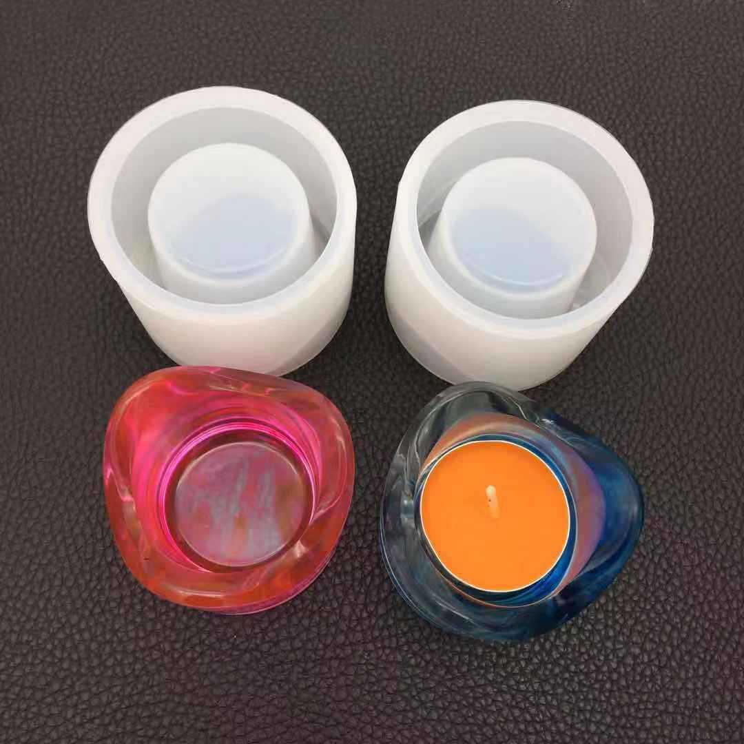 DIY Crystal Epoxy Mould Aromatherapy Candlestick Mirror Plaster Handmade Pendant Jewelry Tool