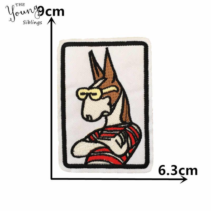 Parche de dibujos animados de hierro en parche de bordado apliques de costura insignias de tela DIY parche adhesivo de fusión caliente accesorios de ropa suministros de artesanía